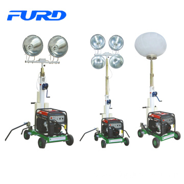 hot sale mobile construction light tower with diesel generator