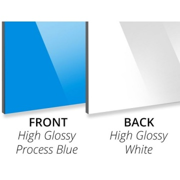3MM Gloss Process Blue/Gloss White Aluminium Composite Panel