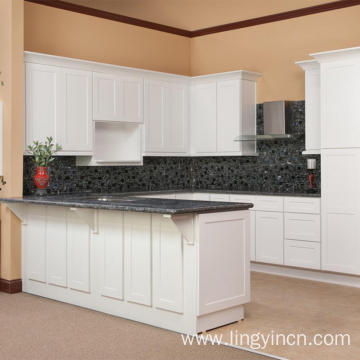 High end shaker kitchen cabinet with bar design