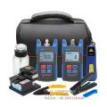 Fiber Optic Tool Kit Fiber Tools Test Equipment Fiber Network Testing FTTH Tool 8-in-1 Tool Kit with Fiber Cleaver