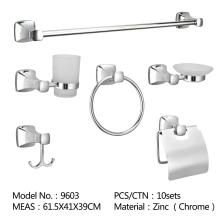 304 Stainless Steel Bathroom Single Rack Wall Mounted Bathroom Accessories Set Towel Bar