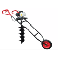 Hand push earth ground drill auger machine