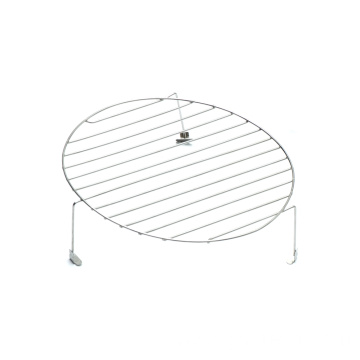 Round Grill Mesh Grid Flat Top With Feet