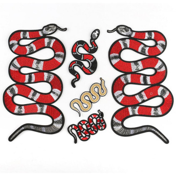 Big Snake Toy Embroidery DIY Patches Clothing Applique