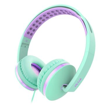 Foldable Stereo On Ear Headphones For Kids Girls