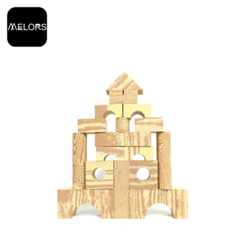 Melors Foam Building Blocks Leker Wood Grain Block