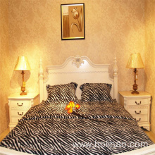 Leopard Printed Polar Fleece Bed Sheets Wholesale