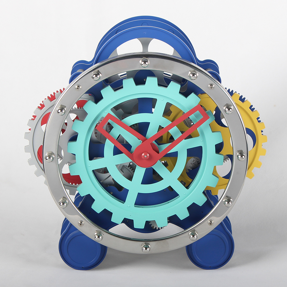 Colorful Round Gear Clock With Two Feet