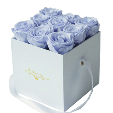 Luxury White Square Design Flower Cardboard Gift Box
