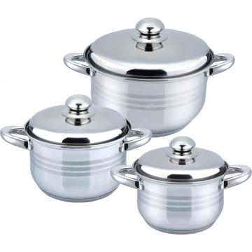 6pcs hot sale casserole with hollow handle