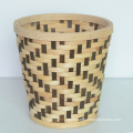 Round Wood Chip Flower Basket