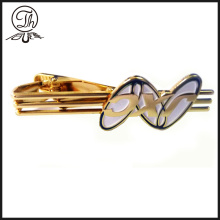 Gold hollow mens pins clip bar for tie