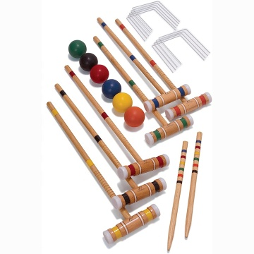 Eastommy Adults &Kids Six-Player Croquet Set