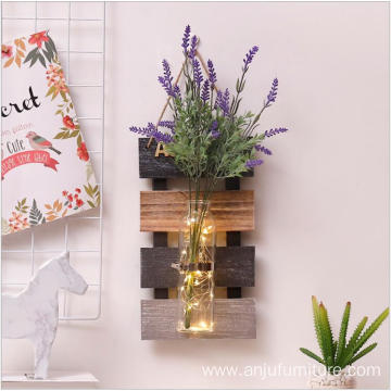 Decorative Wall Hanging Shelf Distressed Wood Jute Rope Floating Shelves