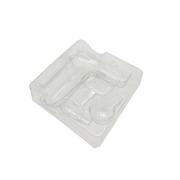 Custom thermoformed insert clear plastic tray