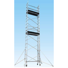 Single Width Aluminum Mobile Scaffold with Build-in Ladder