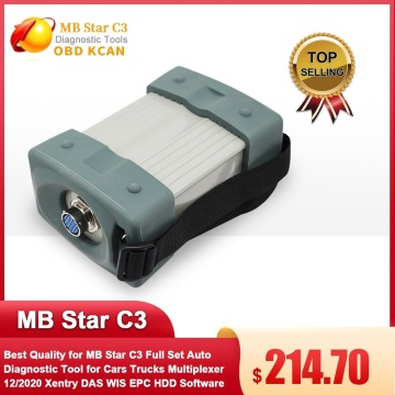 Best Quality for MB Star C3 Full Set Auto Diagnostic Tool for Cars Trucks Multiplexer 12/2020 Xentry DAS WIS EPC HDD Software