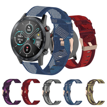 22mm Nylon Canvas Wrist Strap For Honor Magic Watch 2 Band Bracelet For Huawei GT GT2 GT 2e Sport Smart Watch Band Accessories