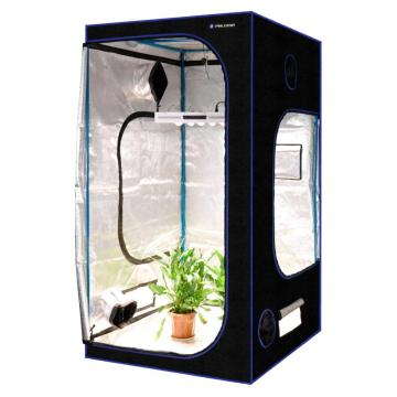 Hydroponic Plant Growing Tent with Window Black