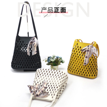 Leather Yellow Shoulder Sling Handbags