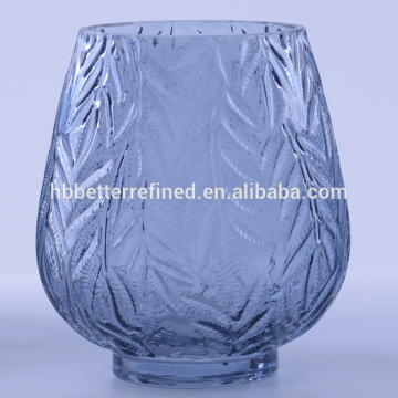 Blue color wholesale glass vases