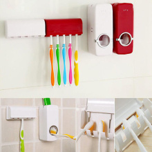 Toothpaste Dispenser Tooth Brush Holder Bathroom Automatic Toothpaste squeezer Wall Paste Mounted Bathroom Accessories
