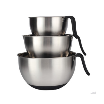 Stainless Steel Mixing Bowl Set withLong Handle