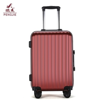 Durable good price built in scale ABS luggage