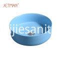 Art round lavatory art blue basin ceramic