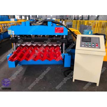 glazed roof sheet roll forming machine with gearbox