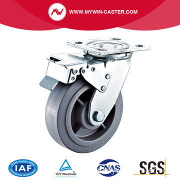 6'' Heavy Duty Swivel TPR Industrial Caster With PP Core With Total Brake
