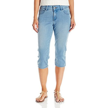 Indigo Women's Ultra Soft Denim Blended Capri Jean