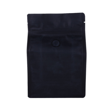 Food Grade Flat Bottom Zipper Blue Coffee Bag