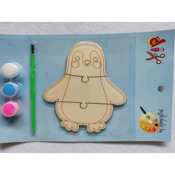 paint your own wooden penguin puzzle