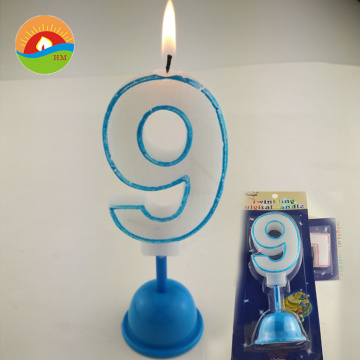 colorful glitter electronic music birthday number candle