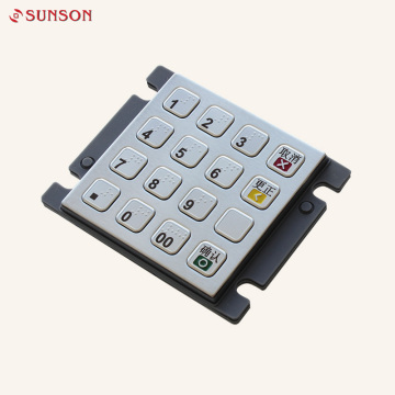 16 Key ATM Farsi Brallie Keyboard Metal Keypad