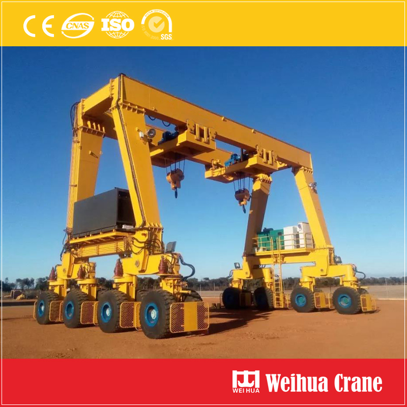 Rubber Tyre Yacht Crane