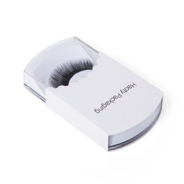 Pretty false eyelash packaging box with acrylic case