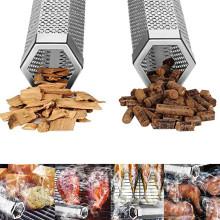 2020 New Smoker Tube 12'' Hexagon Bbq Wood Pellet Tube Smoker Portable Barbecue Smoke Generator Bbq Smoker Accessories Tools @47