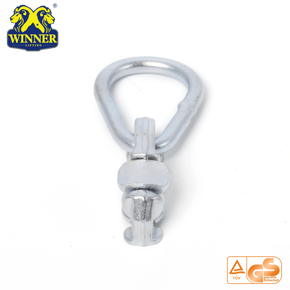 Zinc Plated L Track Double Stud Fitting With Oval Ring