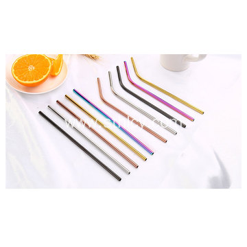 Straight Curved Stainless Steel Straws