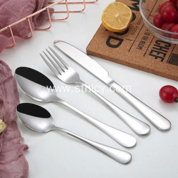 4 Piece Colorful Stainless Steel Dinnerware Set