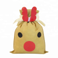 Cartoon Deer Christmas Non-woven Gift Bags Making