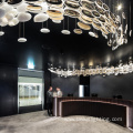 Project wedding hotel crystal long led chandelier