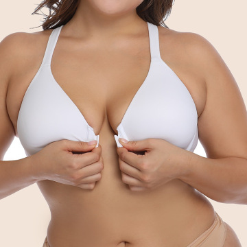 In-stock plus size front closure bra
