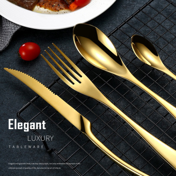 Wholesale Bulk Luxury Stainless Steel Wedding Flatware Set