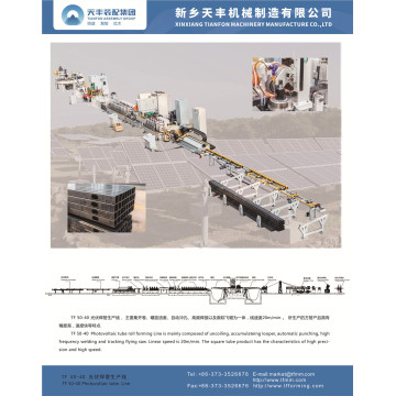 TF 50-40 Photovoltaic tube roll forming Line