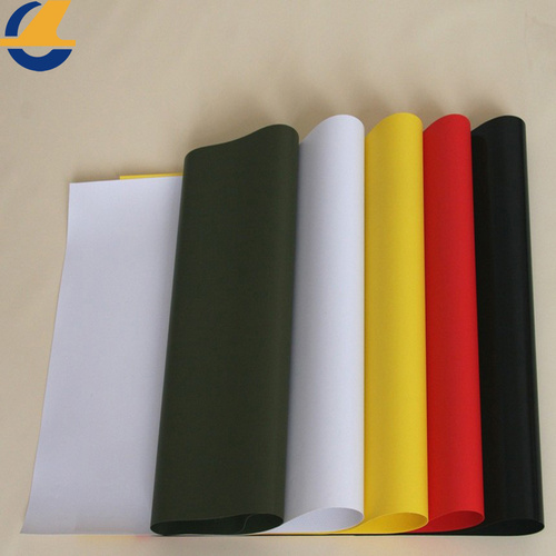 White PVC Vinyl Tarps Fabric Black