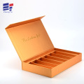 Book shape gold  paper cosmetic packaging box