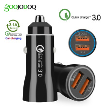 3.0 dual fast usb car charger for xiaomi car charger quick charge 3.0+3.1a car usb for samsung honor redmi huawei iphone 7 8 X